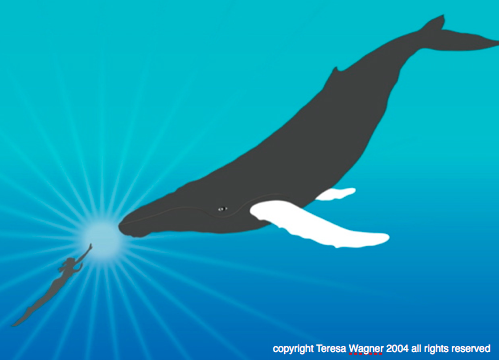 Woman Whale graphic