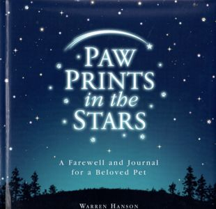Pet Loss Book Paw Prints in Stars